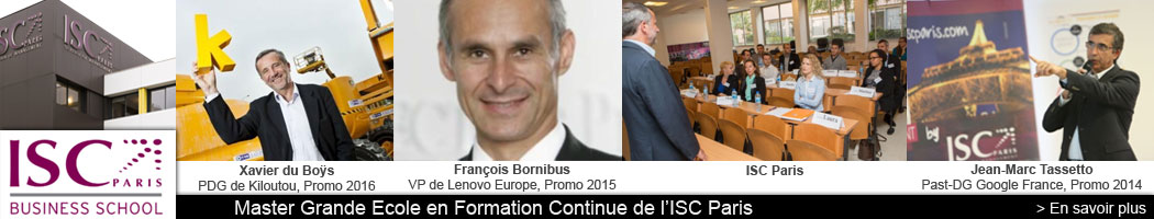 ISC Paris Business School, Master Grande Ecole en Formation Continue